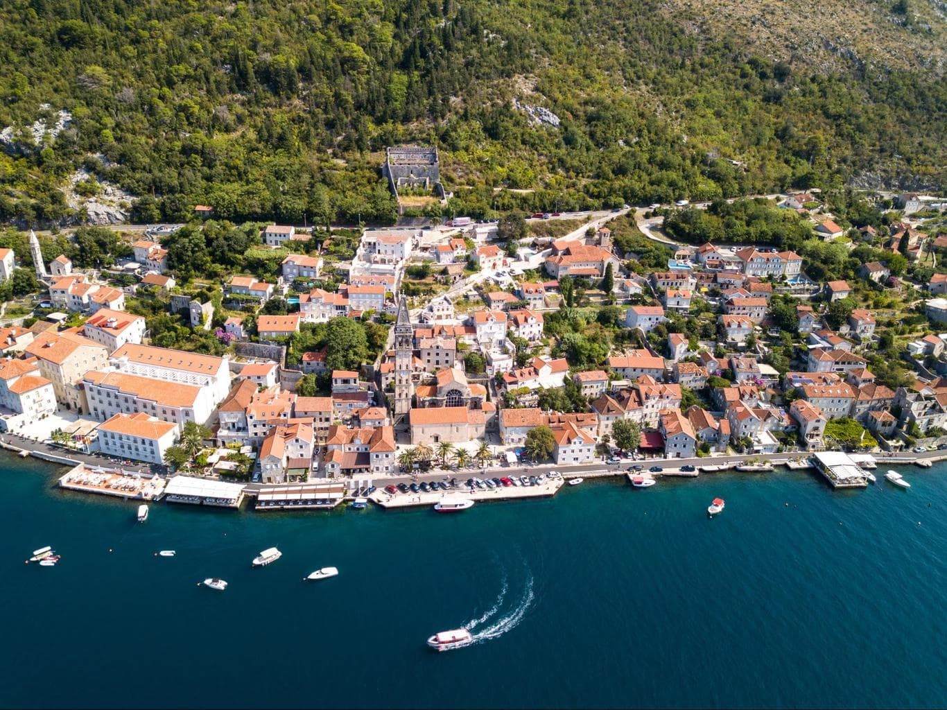 Perast from above