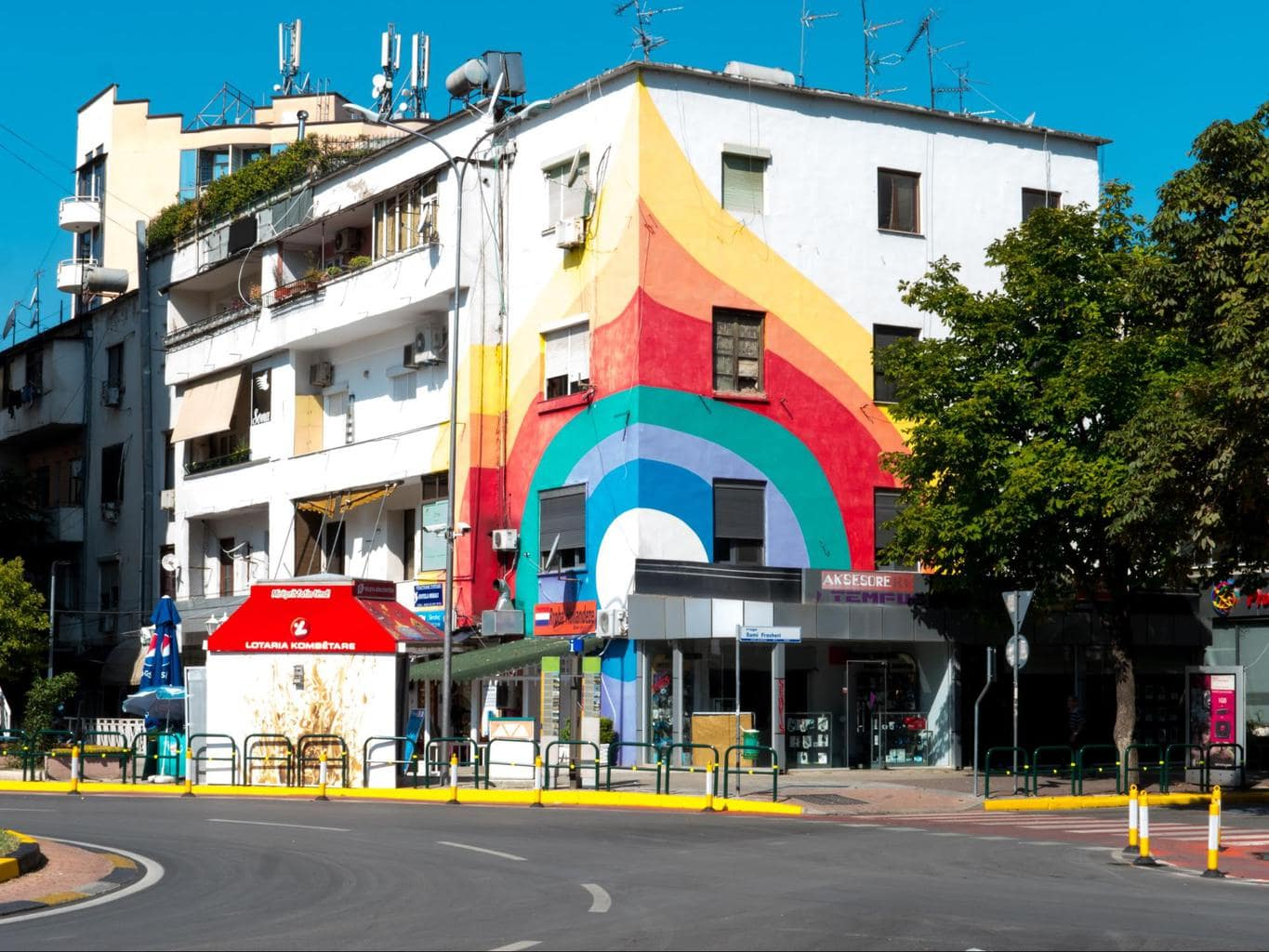 Rainbow buildings