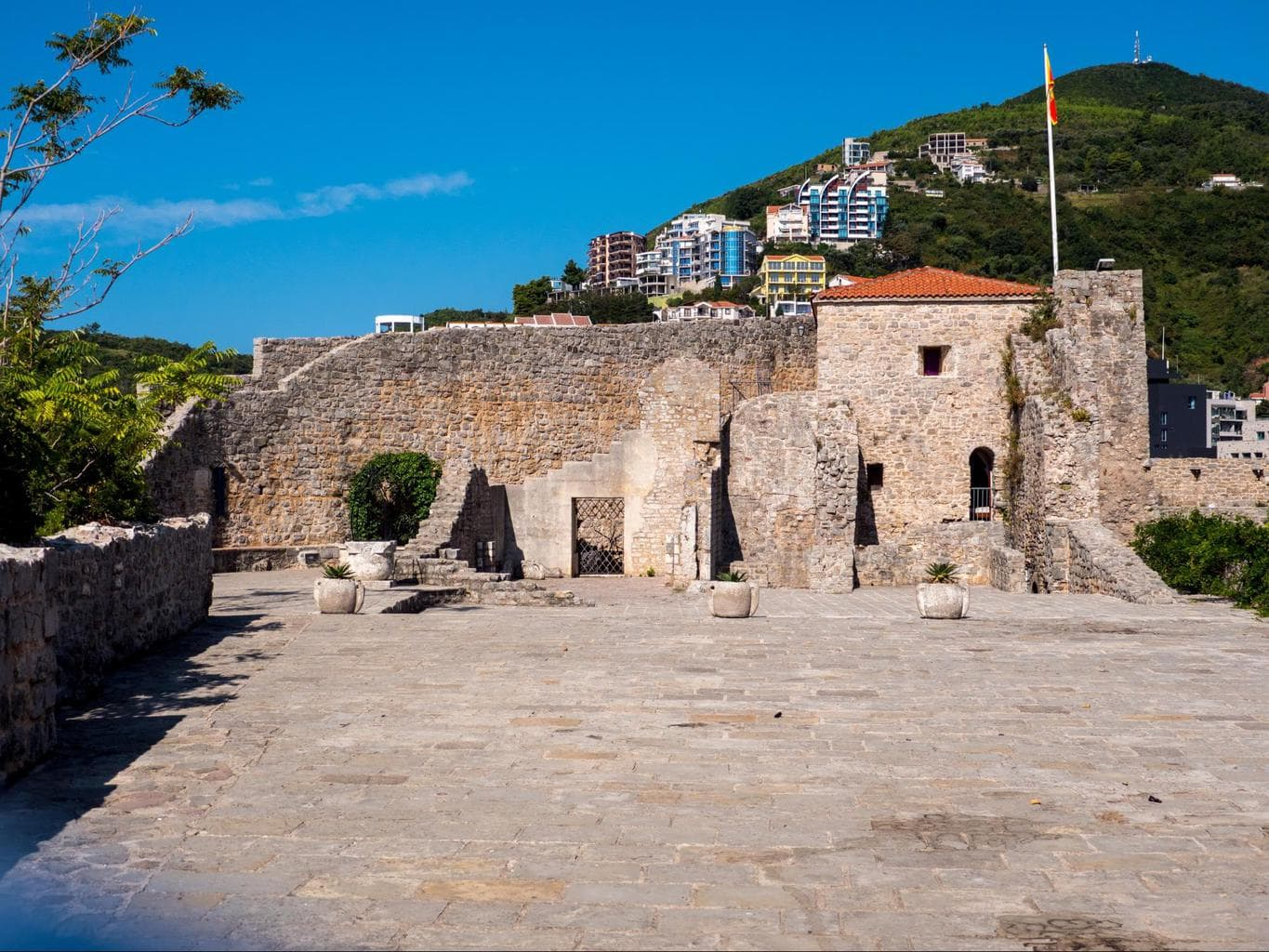Remains of the old castle inside Budva's Citadel