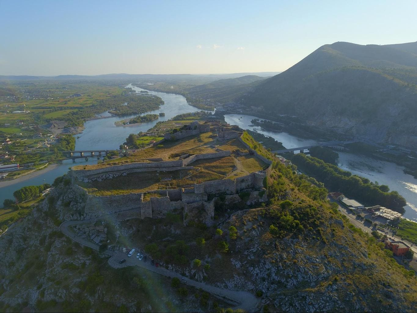 Rozafa Castle from above