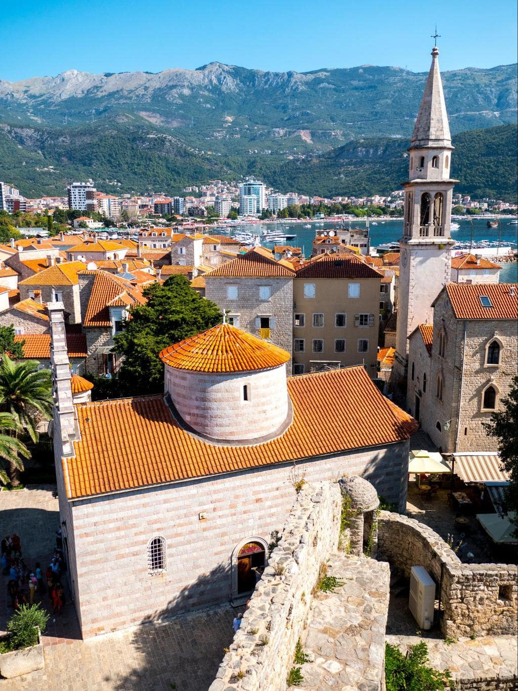 The three churches in Budva