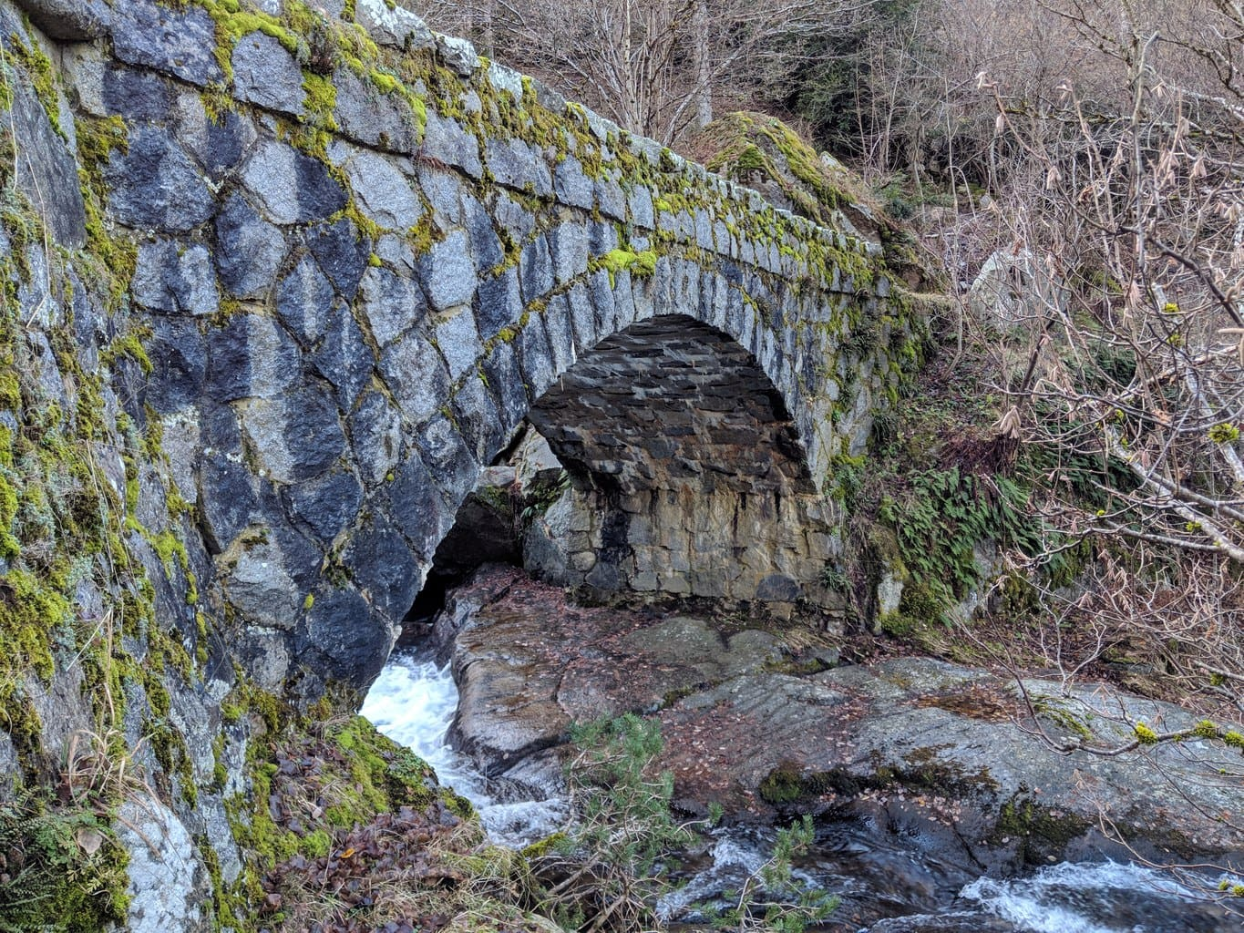 'Stone bridges on the way to Bordes at Madriu Pedrafita Claror Valley