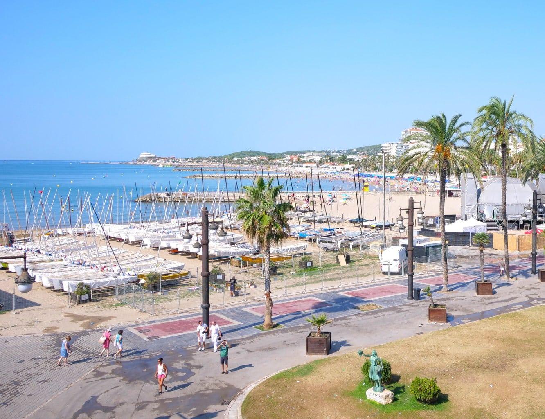 """Sea Promenade in Sitges"""