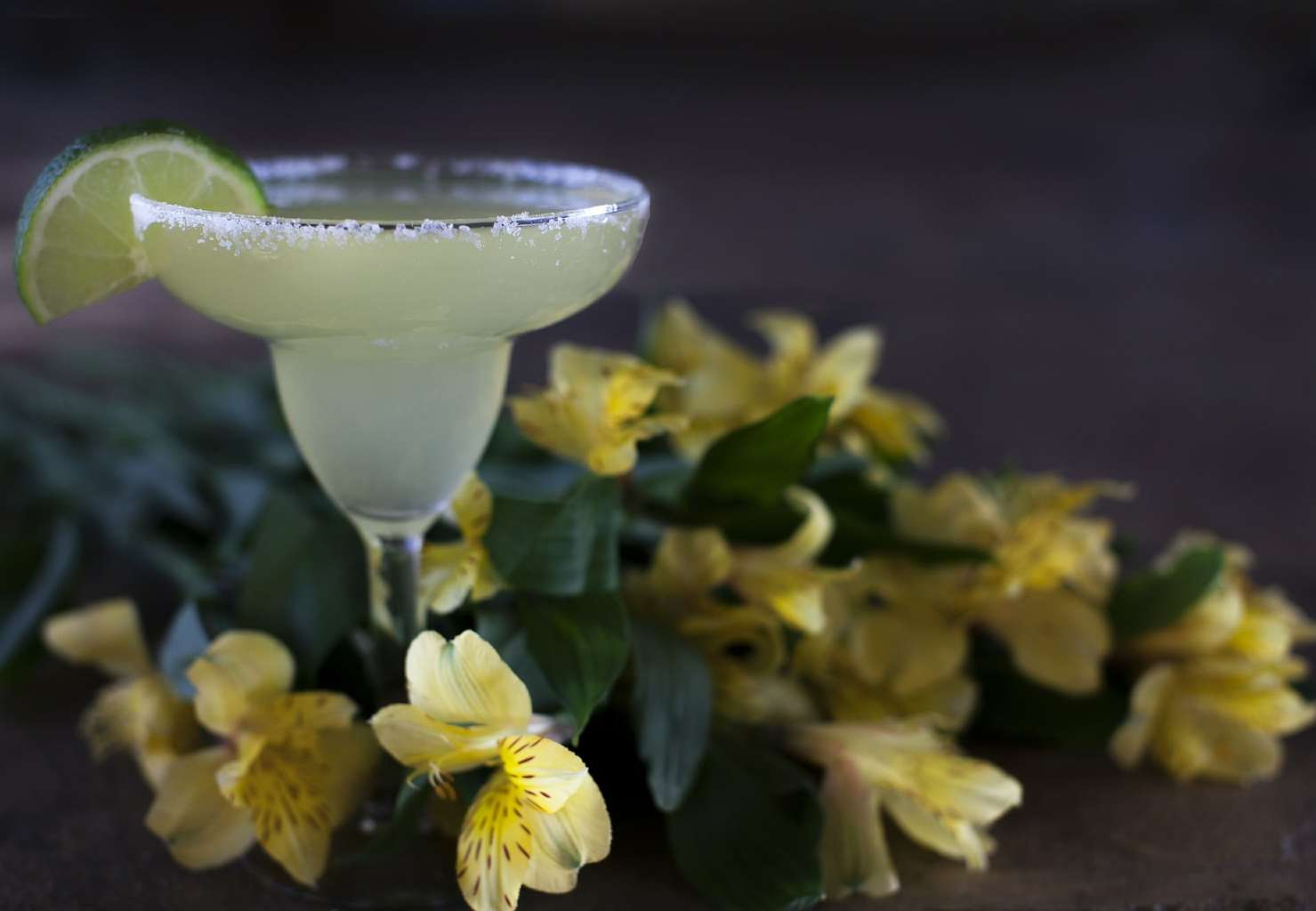A traditional margarita is made with tequila, lemon juice and triple sec
