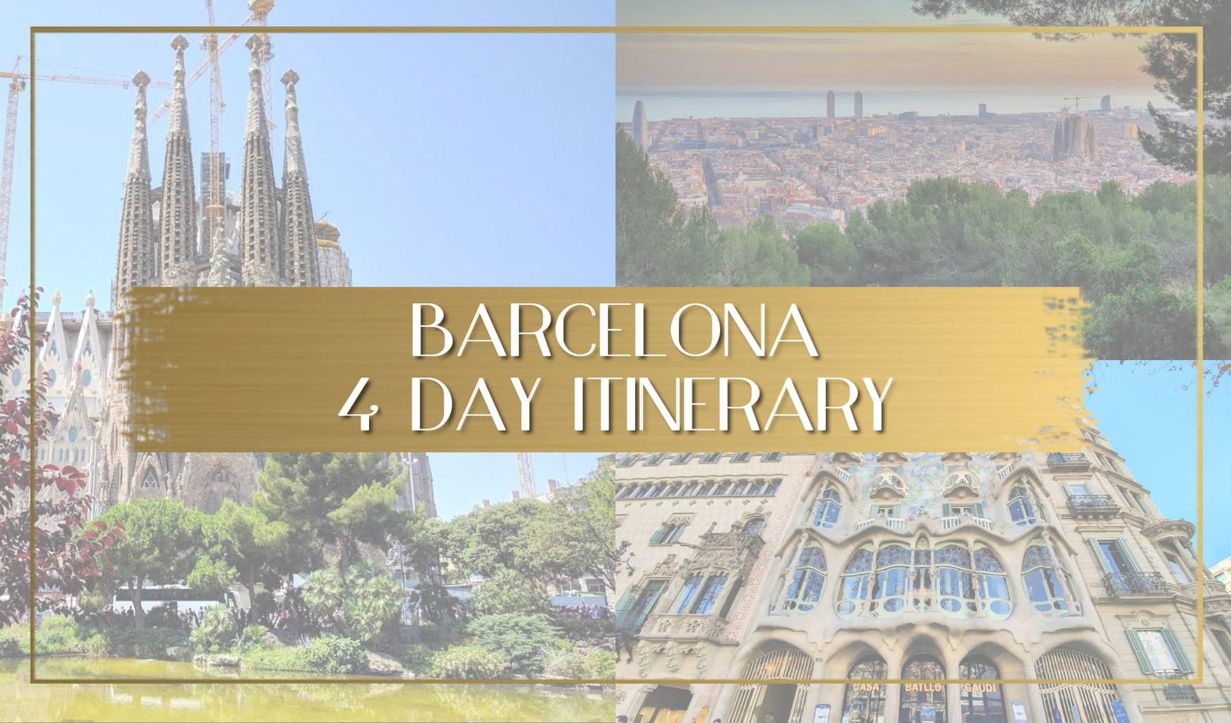 Barcelona Itinerary main