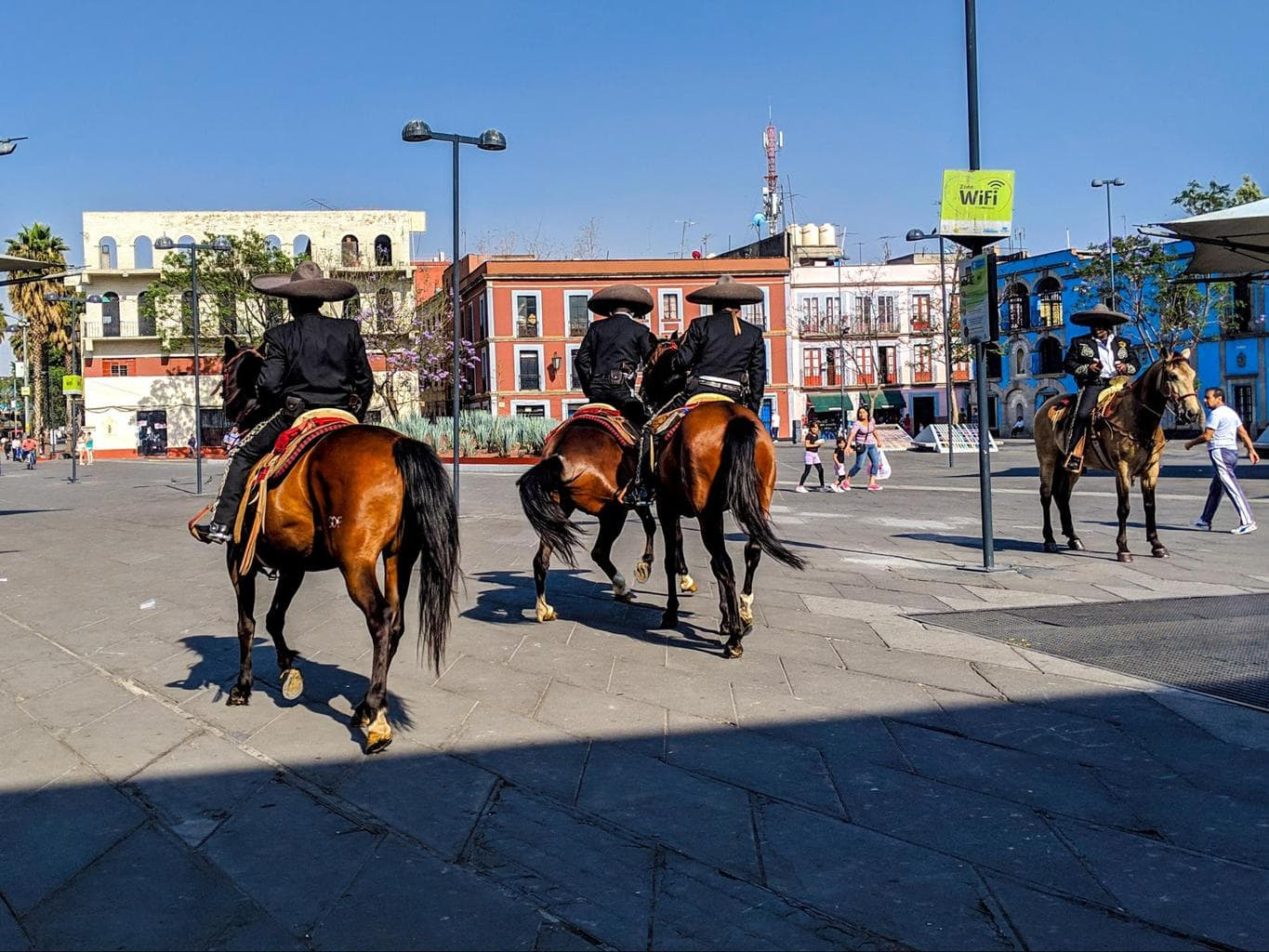 Charros at Plaza Garibaldi in Mexico City