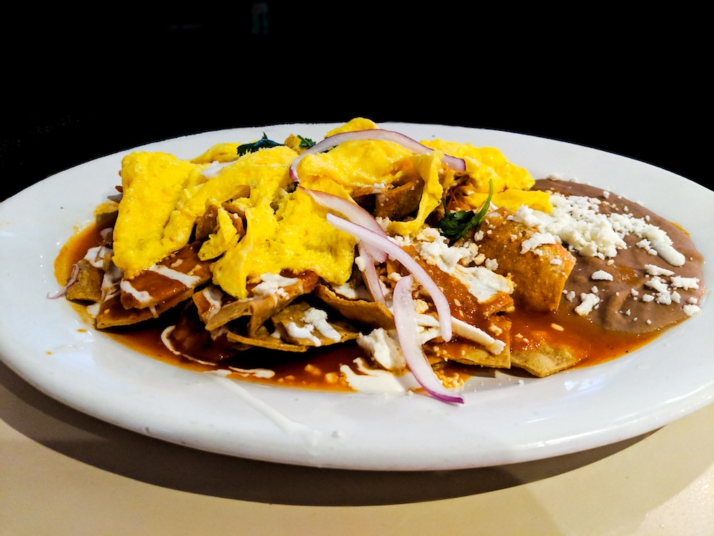Chilaquiles are made with old tortillas
