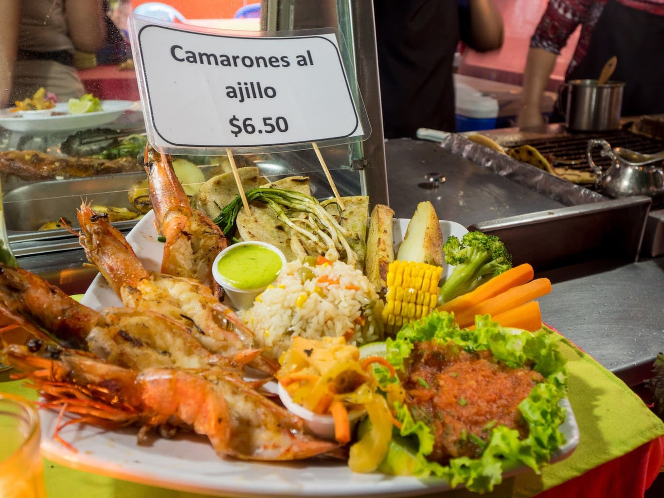 """Grilled seafood Salvadorian style"""