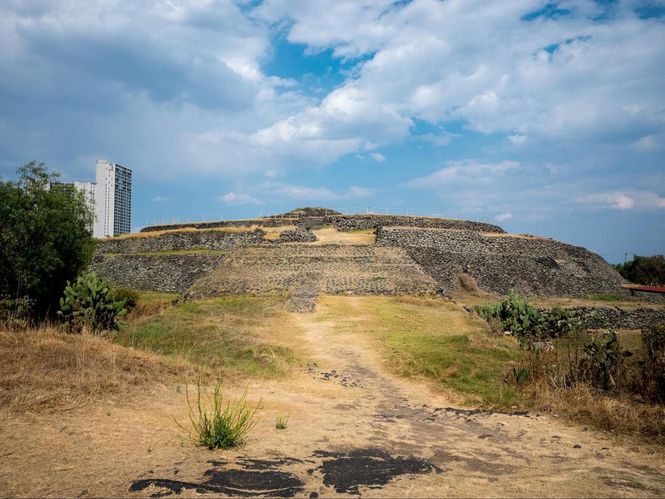 Cuicuilco Pyramid in Mexico City