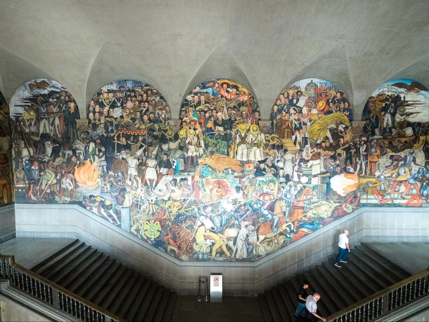 Diego Rivera's murals at the Palacio Nacional in Mexico City