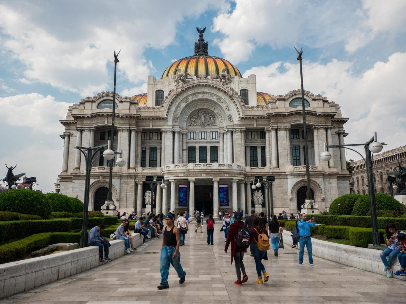 Facade of the Palacio Bellas Artes in Mexico City
