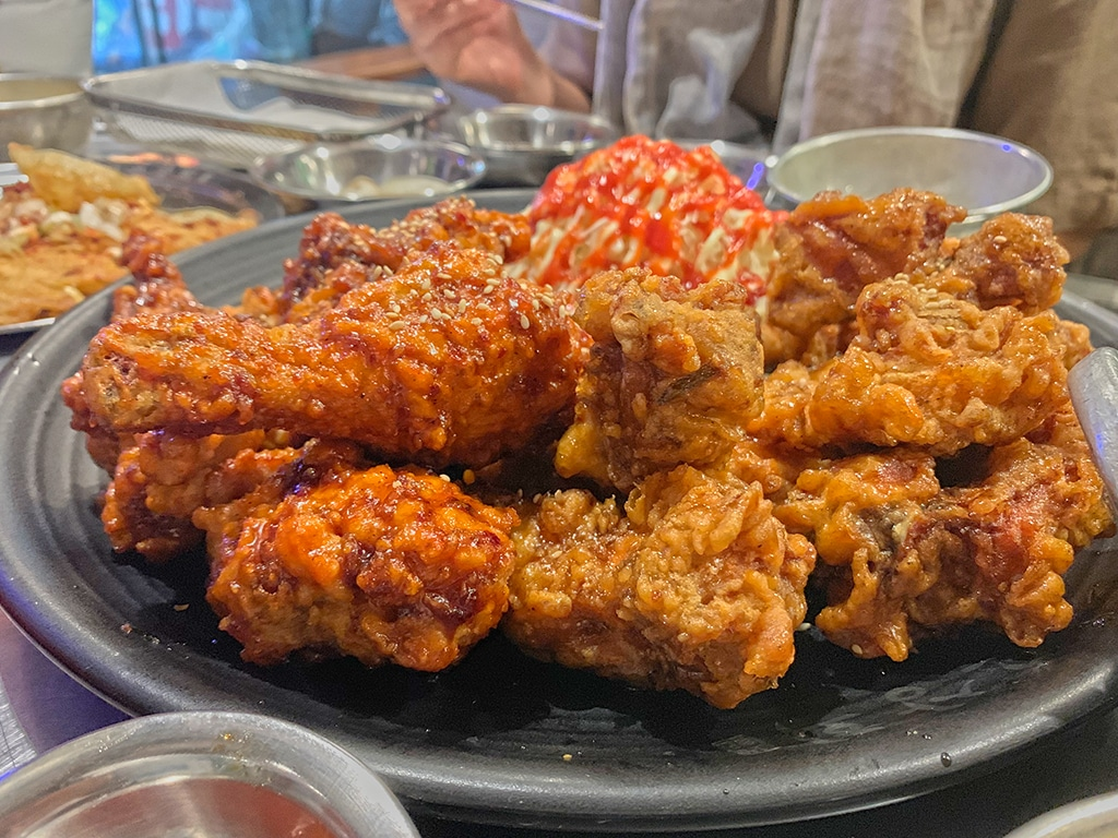 Firey and soy sauce deep fried chicken
