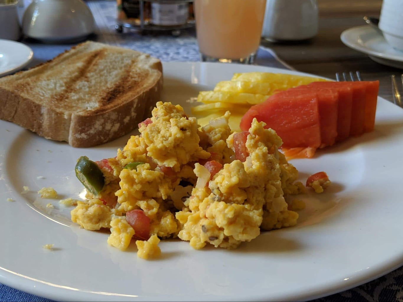Huevos a la Mexicana, or Mexican scrambled eggs