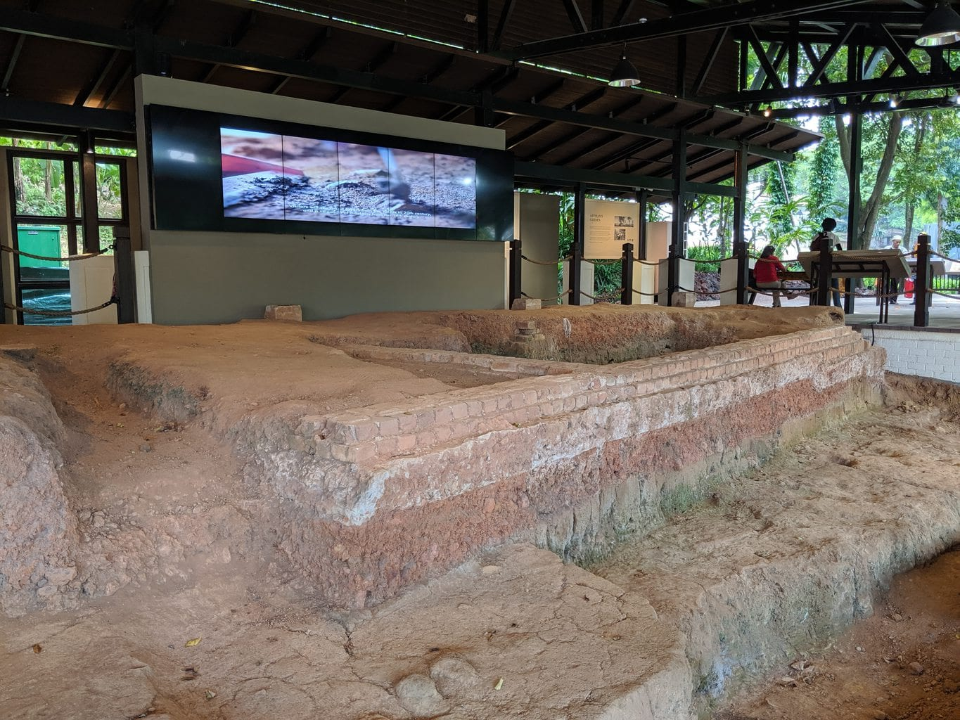 Fort Canning archeological dig site