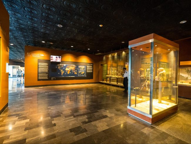 Mexico City's Anthropology Museum exhibits and objects on display 01