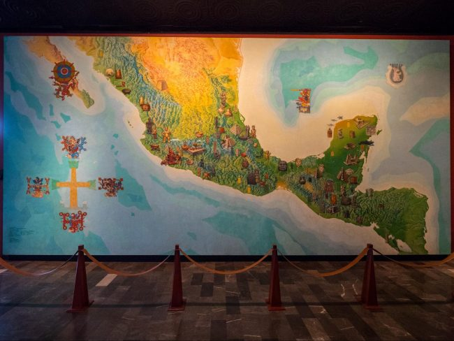 Mexico City's Anthropology Museum exhibits and objects on display 02