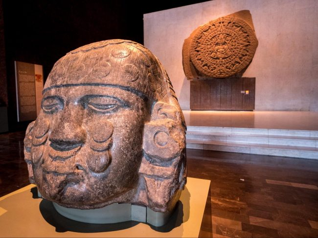 Mexico City's Anthropology Museum exhibits and objects on display 03