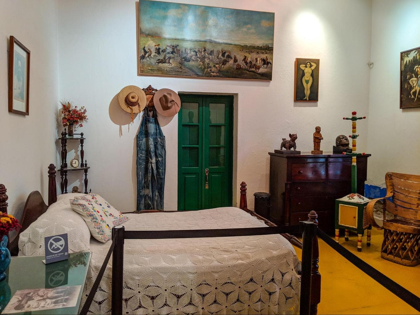 One of the bedrooms at La Casa Azul