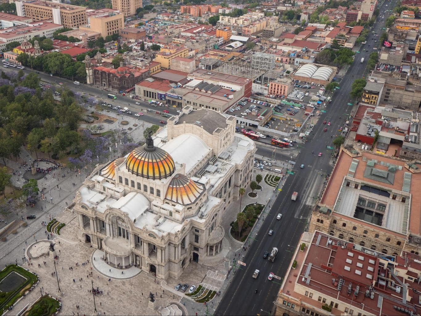 Palacio Bellas Artes seen from the top of Torre Latinoamericana