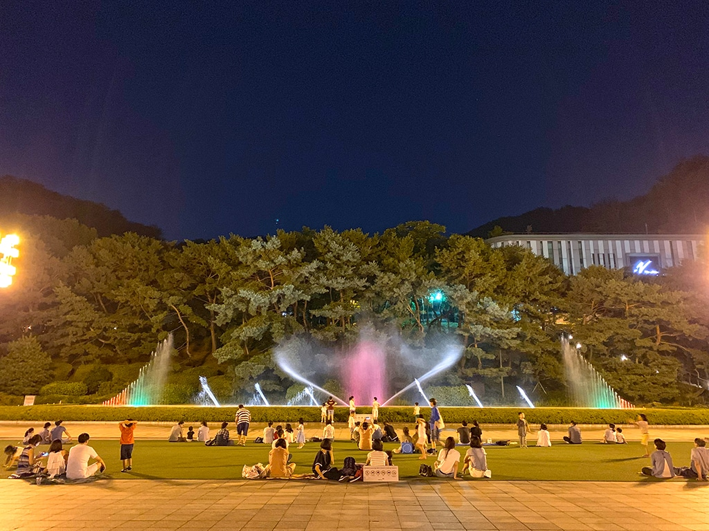 Seoul Arts Center fountain