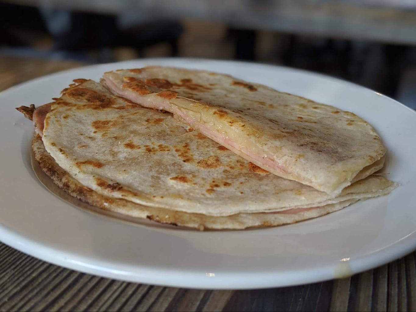 Sincronizadas are breakfast quesadillas