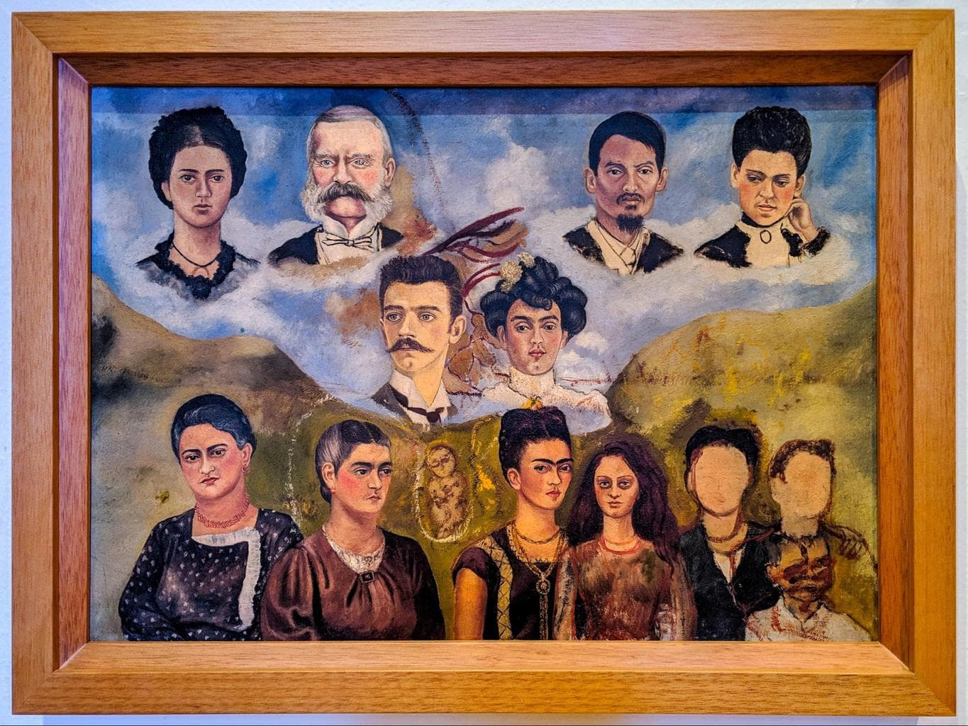Some of Frida Kahlo's paintings at La Casa Azul