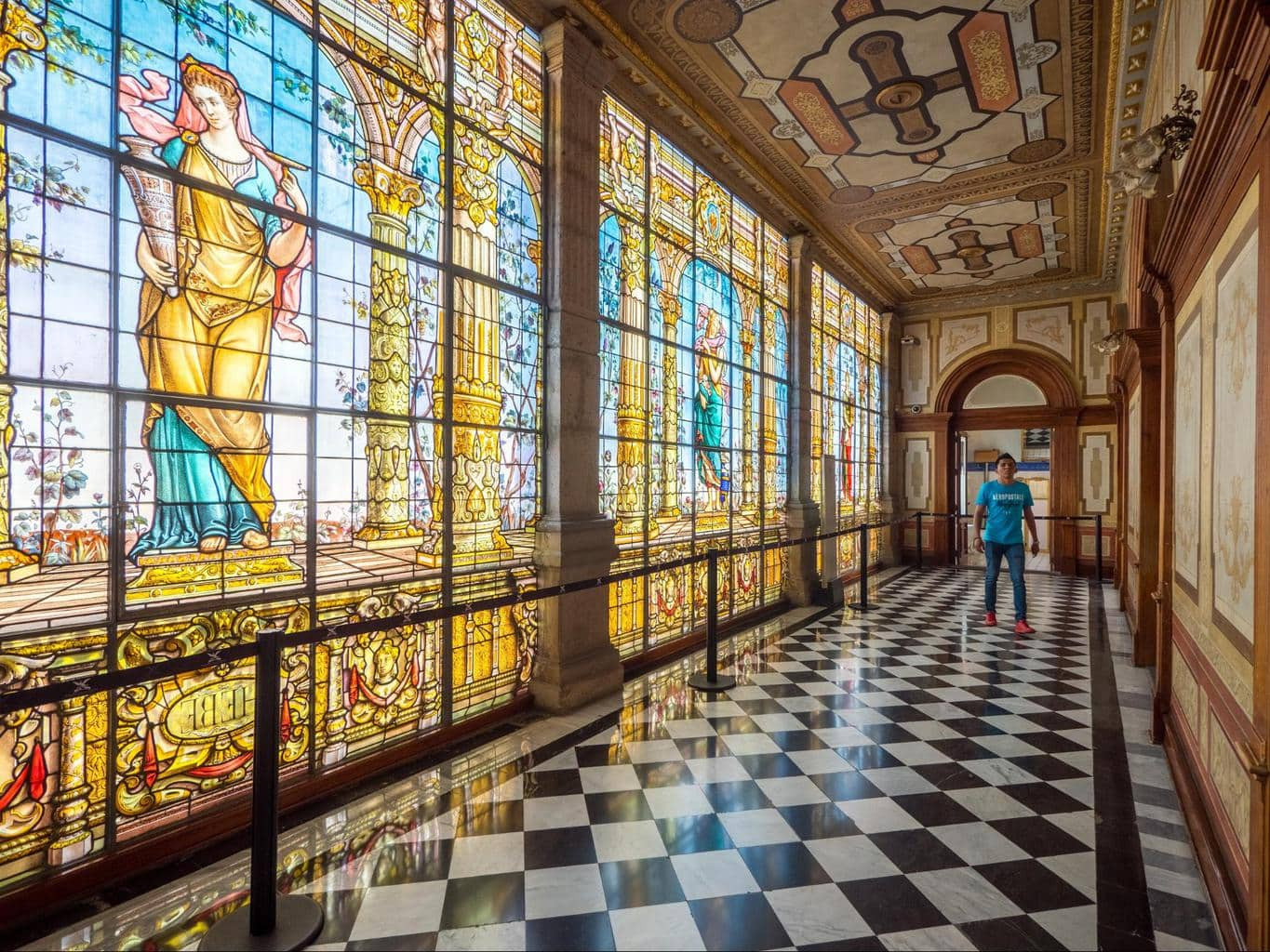 The beautiful stained glass in Chapultepec Castle
