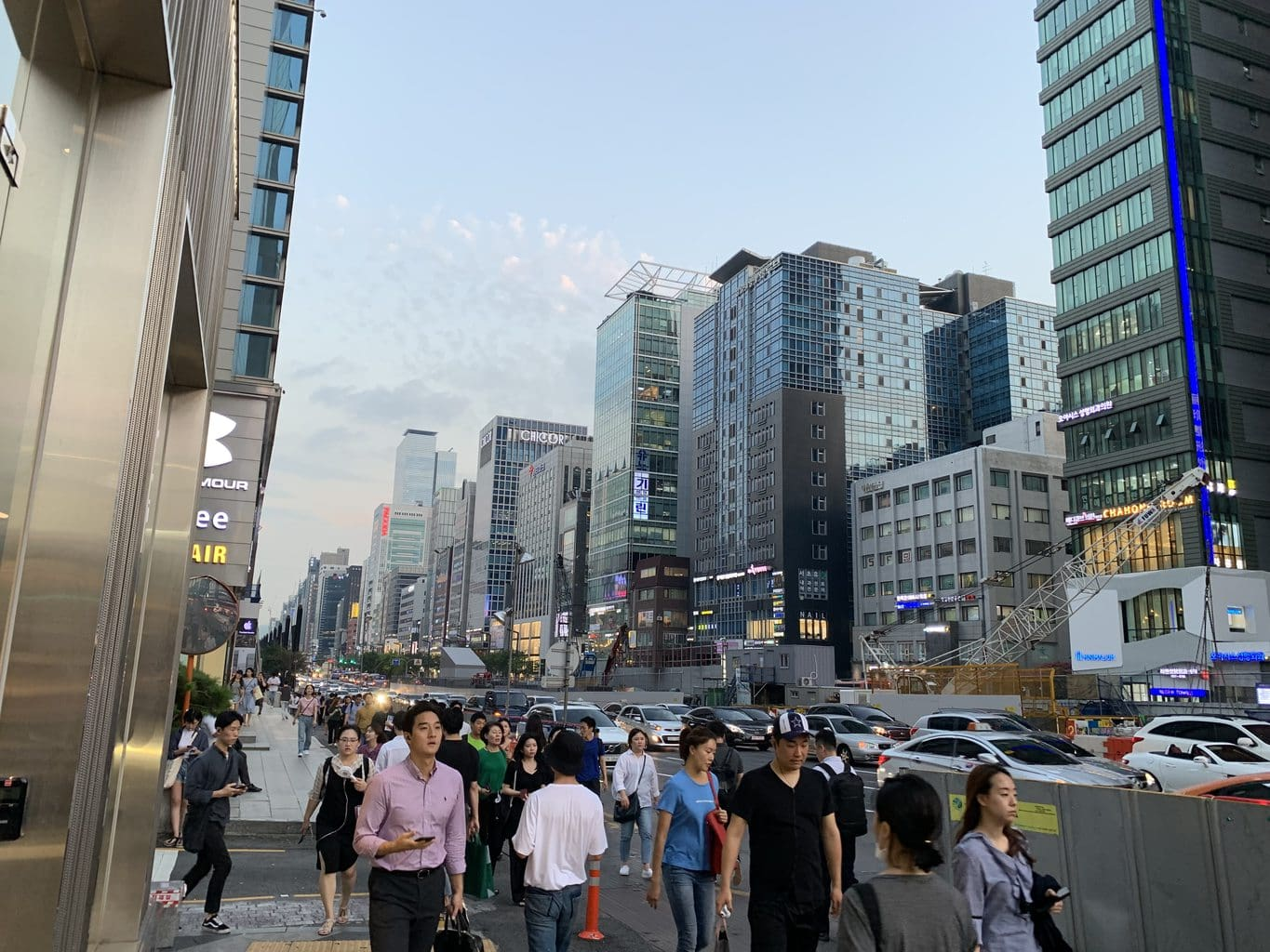 The main road in Gangnam