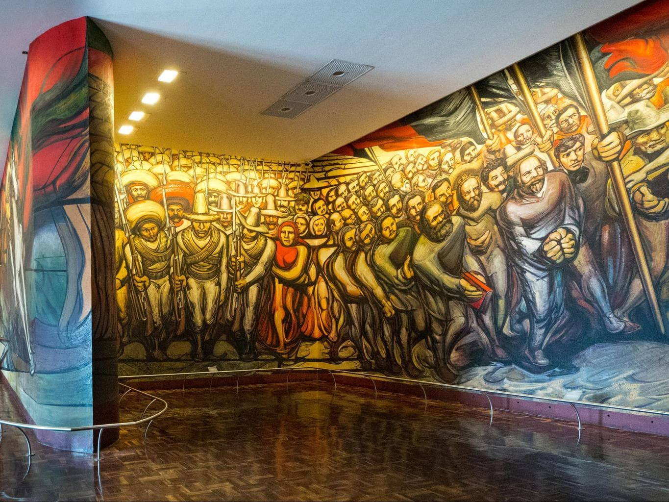 The murals and view from Chapultepec Castle 01