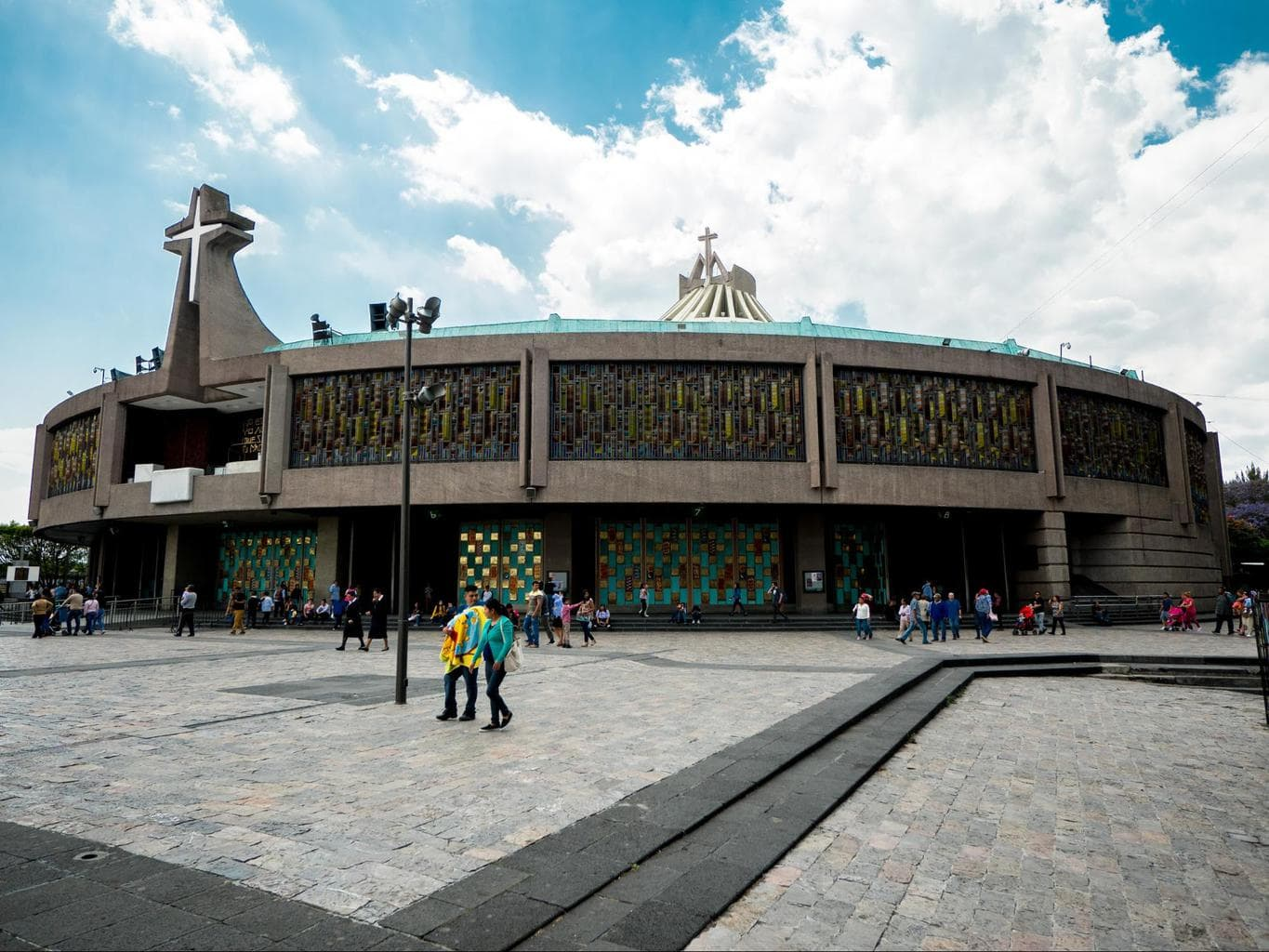 The new building for the Lady of Guadalupe Basilica