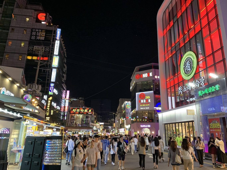 The nights streets of Hongdae