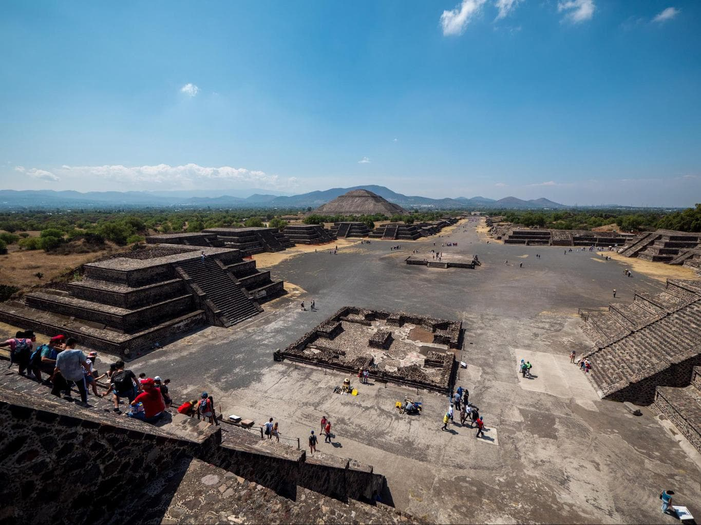 The view from the Pyramid of the Moon of the Pyramid of the Sun