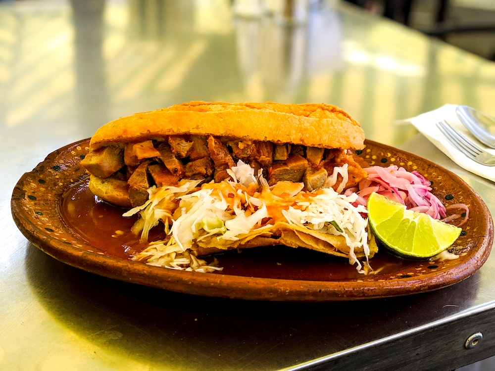 Torta hogada is literally a sunken sandwich