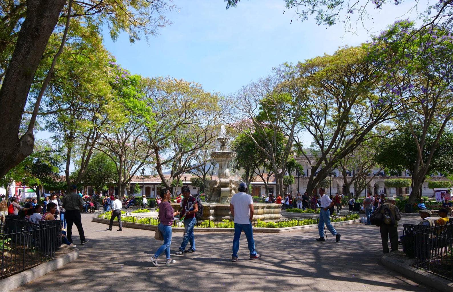 Antigua Guatemala Central Park or Plaza Mayor
