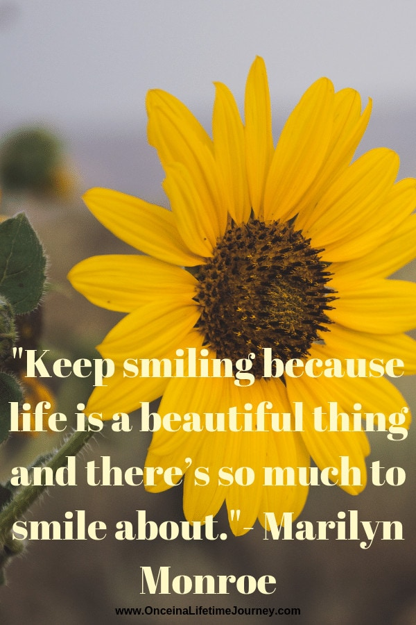 Instagram bio quotes: Keep smiling because life is a beautiful things and there's so much to smile about