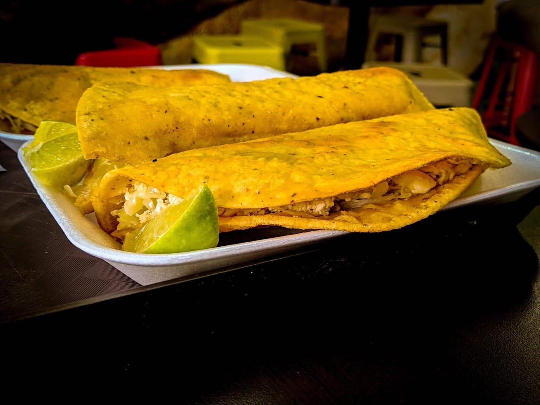 Dobladas, a crispy Guatemalan taco