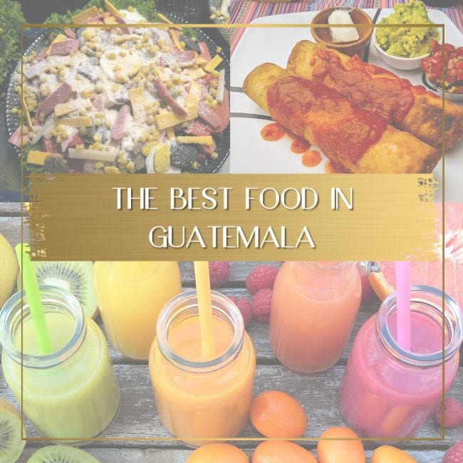 Food in Guatemala feature