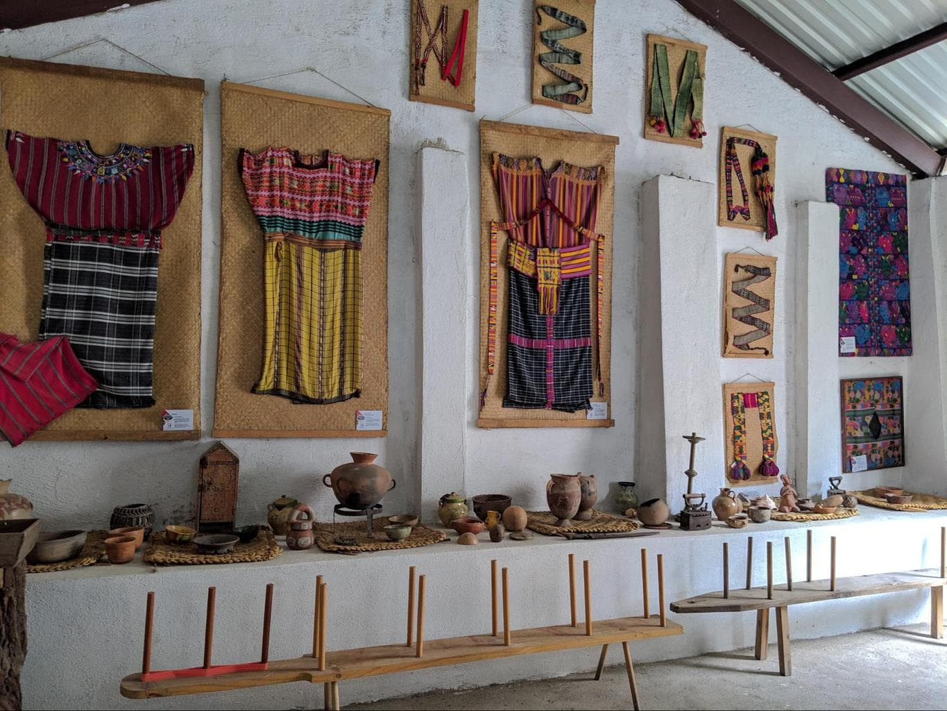 Mayan traditional clothing and fabrics