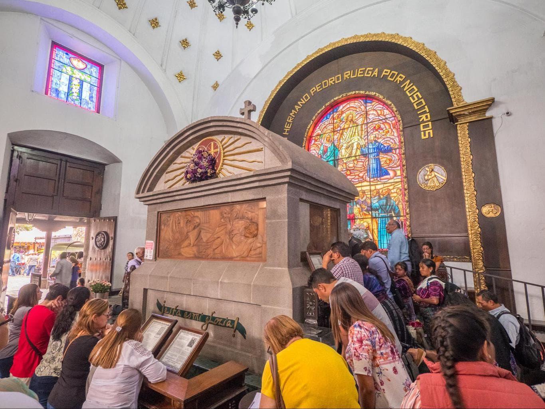 The tomb of Hermano Pedro