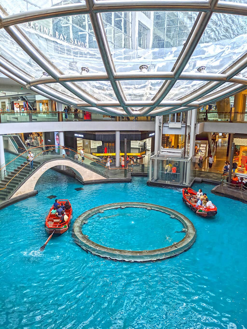 Gondola within the Shoppes at Marina Bay Sands