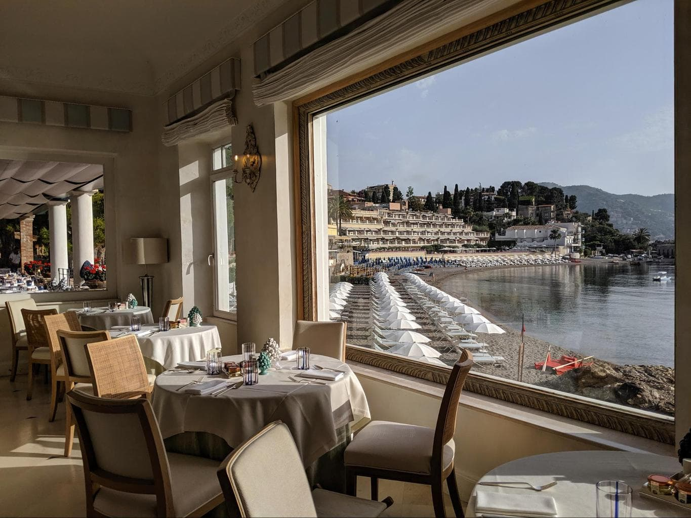 Indoor restaurant at Belmond Villa Sant'Andrea