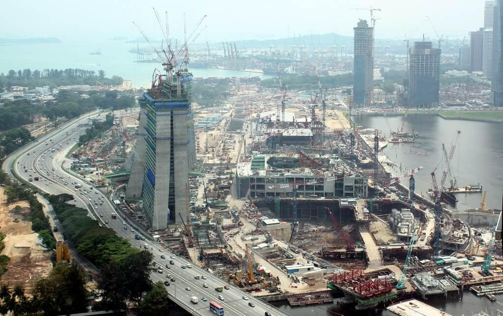 Marina bay Sands Construction in 2009