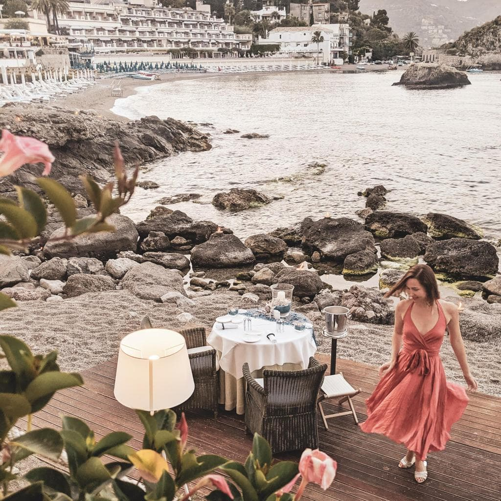 Romantic beach dinner for two Belmond Villa Sant'Andrea