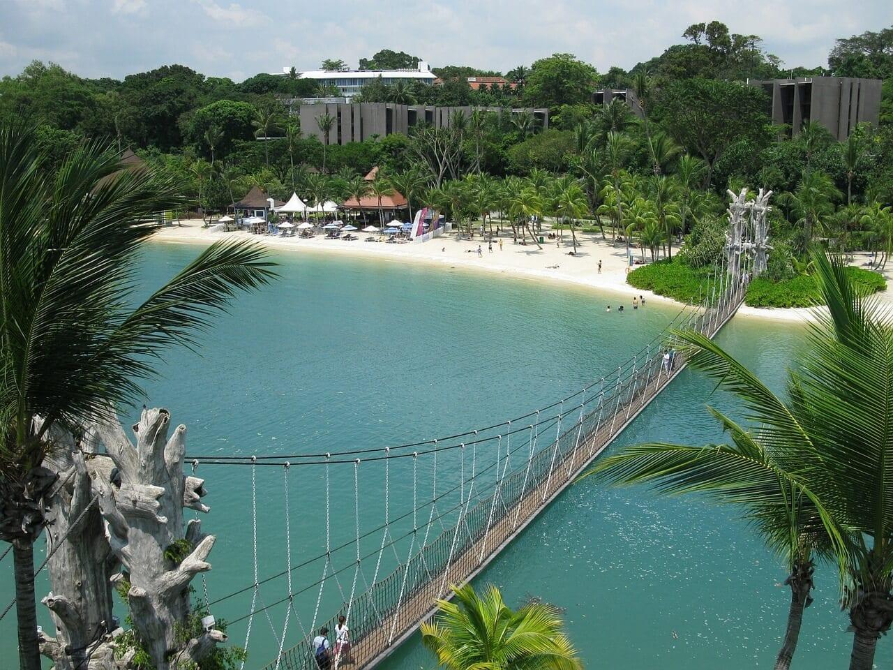 Sentosa was originally called Pulau Blakang Mati