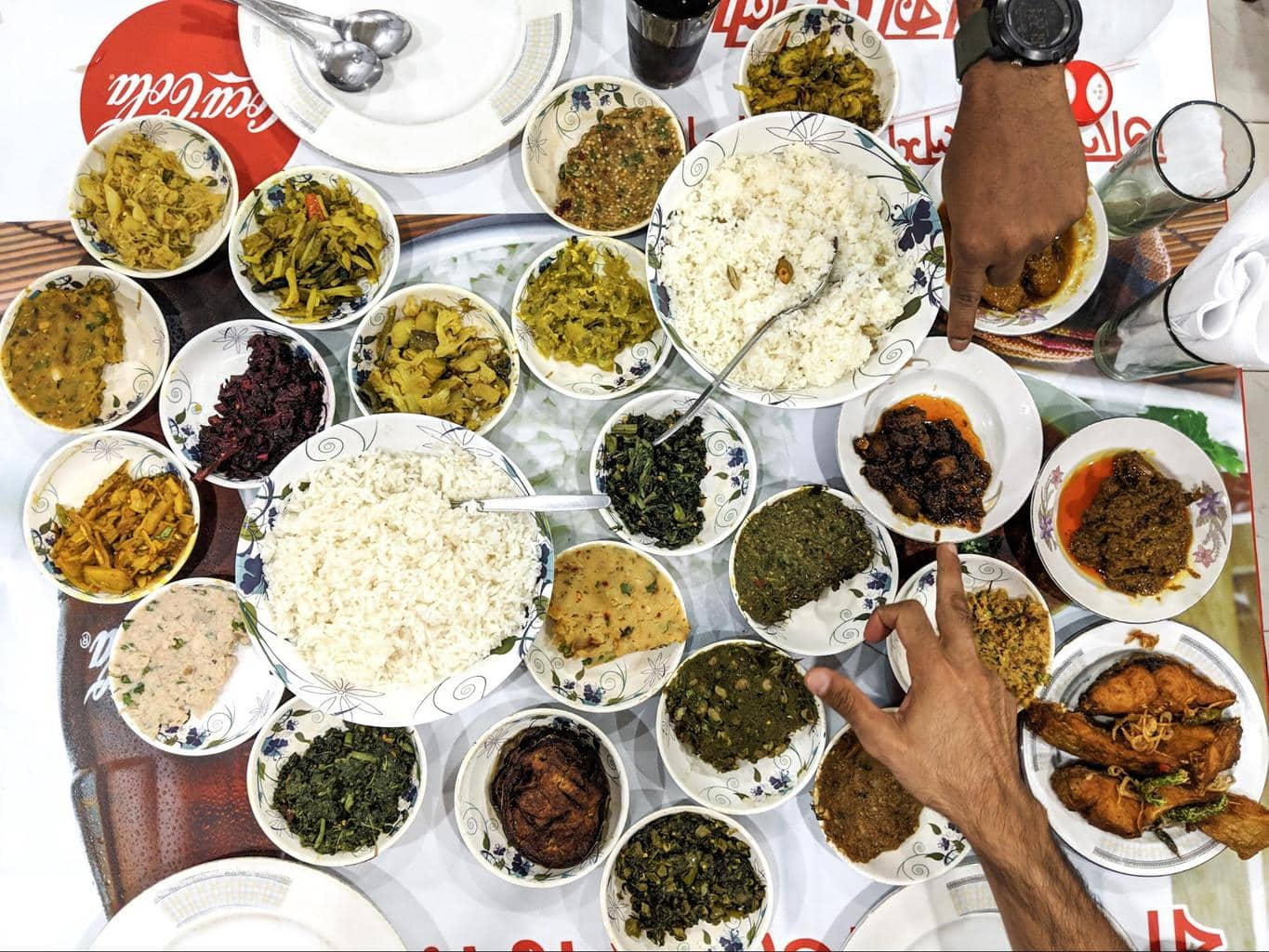 A Bangladeshi food feast
