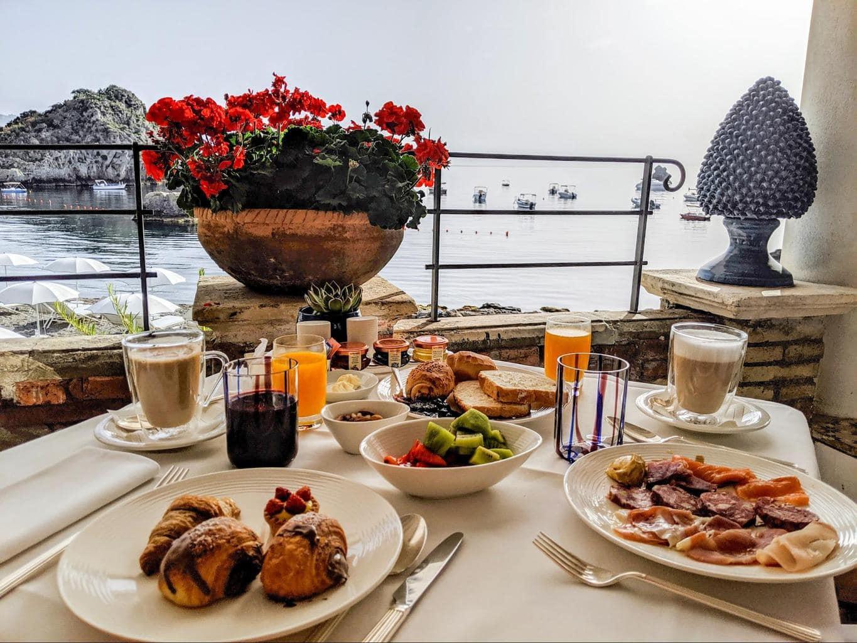 A typical Sicilian breakfast