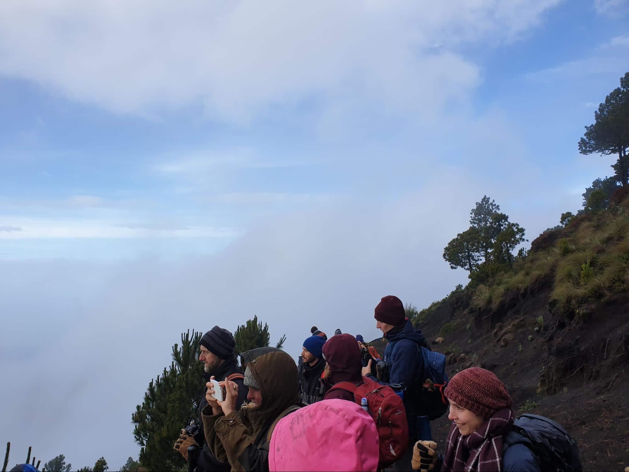 Acatenango Volcano hiking group