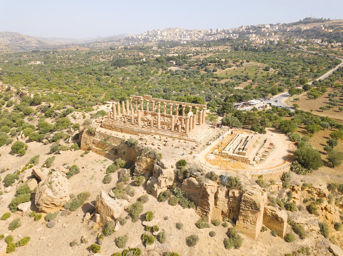 Aerial shot of The Valley of Temples