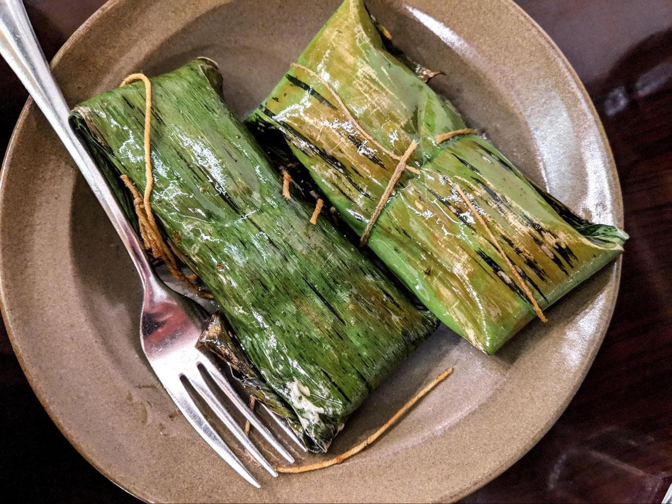 Bangladeshi food cooked in banana leaves