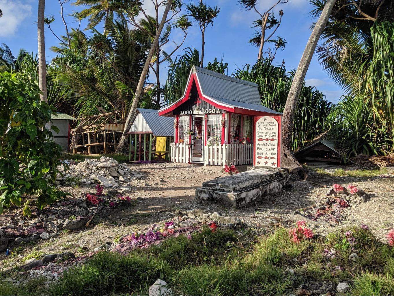 Beautiful cemetery in Tuvalu